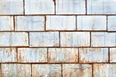 Dirty old tiles on the wall Stock Photos