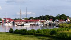 harbor at st michaels on chesapeake bay - stock photo