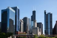 Stock Photo of chicago skyline from the river