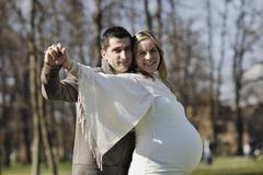 happy pregnancy - stock photo