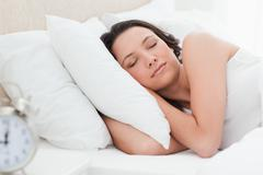 Stock Photo of Woman in a peaceful sleep