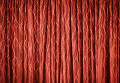 Red curtains - background Stock Photos