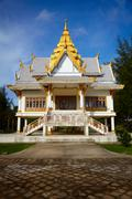 Stock Photo of small buddhist temple. surin, thailand