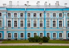 Palace in russia, st. petersburg - smolny monastery Stock Photos