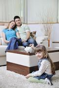 family finance - stock photo
