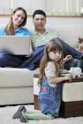 family savings - stock photo