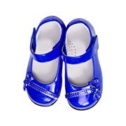 blue shoes for a child - stock photo