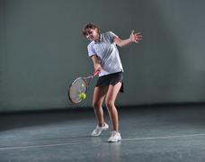 tennis girl - stock photo
