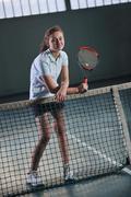 Tennis girl Stock Photos
