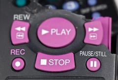 smashed remote control - stock photo