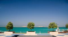 Promenade meritse Abu Dhabissa Kuvituskuvat