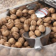 Walnuts for sale Stock Photos