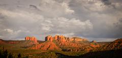 Stock Photo of stormy view of sedona hills