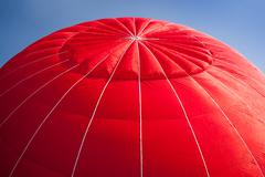 hot air balloon - red - stock photo