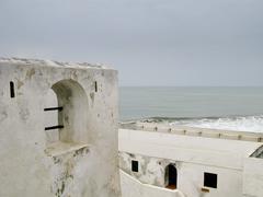 elmina castle in ghana near accra - stock photo