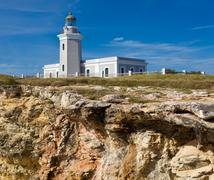 old lighthouse at cabo rojo - stock photo