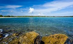 circular bay near cabo rojo - stock photo
