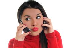 Stock Photo of young woman talk on cellphone