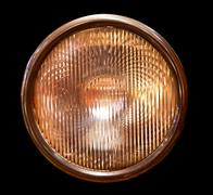 isolated headlamp - stock photo