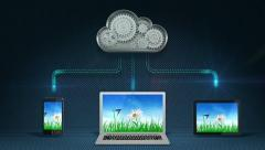Cloud computing concept - stock footage