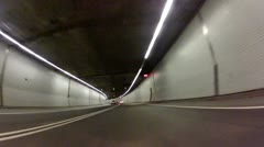 Tunnel Driving Timelpase Stock Footage