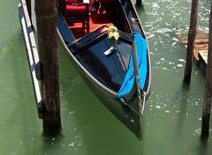 prow of gondola - stock photo