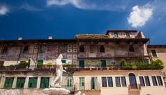 statue of madonna verona - stock photo