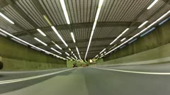 Driving thorugh a Montreal Tunnel, POV - stock footage
