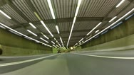 Driving thorugh a Montreal Tunnel, POV Stock Footage