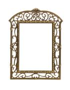 Simple cast metal picture frame Stock Photos