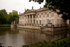 Royal palace in lazienki park Stock Photos