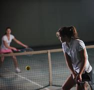 tennis peli - stock photo