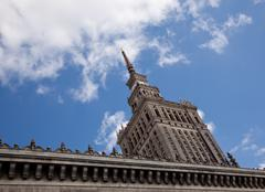 palace of culture and science - stock photo