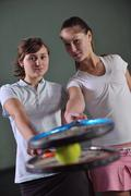 Stock Photo of two woman tennis