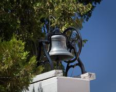 Old bell at ysabel chapel near julian in california Stock Photos