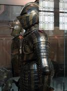 detail, medieval tournament armor, museum of the army, les invalides, paris,  - stock photo
