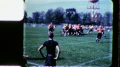 High School College Boys Play FOOTBALL GAME 1960s Vintage Film Home Movie 3421 - stock footage