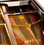 Interior of piano - stock photo