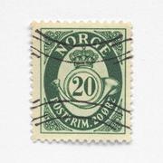 Norway stamp Stock Photos