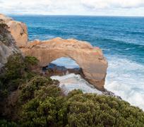 bay of islands coastal park - stock photo