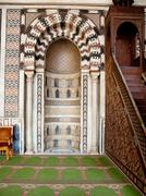decorated areas facing mecca in the citadel cairo - stock photo