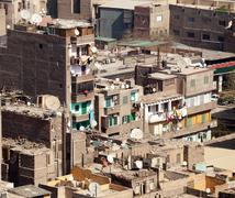 Slum dwellings in cairo egypt Stock Photos
