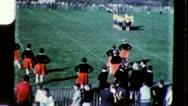 CHEERLEADERS FOOTBALL High School 1960 (Vintage Old Film Home Movie) 3424 Stock Footage