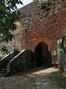 Stock Photo of details of old medieval village walls, ..