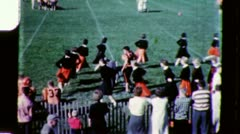 CHEERLEADERS FOOTBALL High School Girls 1960s Vintage Old Film Home Movie 3423 - stock footage