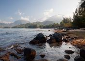 Stock Photo of view across hanalei bay