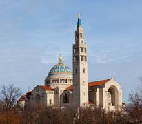 basilica of the national shrine of the immaculate conception - stock photo