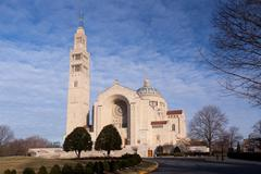 Basilica of the national shrine of the immaculate conception Stock Photos