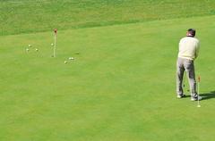 Golf ball game Stock Photos