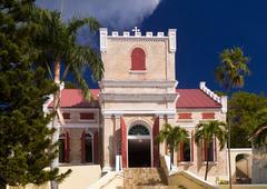 lutheran church in st thomas - stock photo
